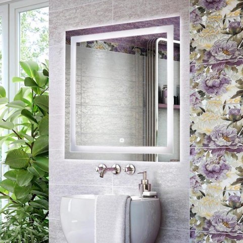 Зеркало в ванную Квадрат-75 светодиод