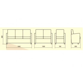 Модульный диван Статик 14