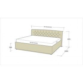 Кровать Флоренция 7-1 (1400)