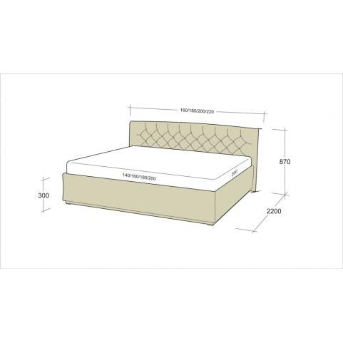 Кровать Флоренция 7-1 (1800)