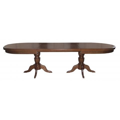 Стол раздвижной 4,5(5,0)*1,1 обеденный на трех тумбах