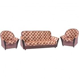 Прямой диван Люкс + 2 кресла
