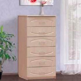 Комод-пенал Донна, с 6 ящиками, цвет дуб