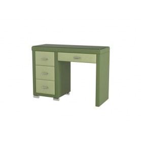 Туалетный столик OrmaSoft 2, 4 ящика, левый, экокожа олива/зеленое яблоко
