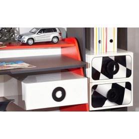 Детский гарнитур Формула кровать в виде машины с аксессуарами