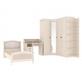Детский подростковый гарнитур Амели угловой шкаф, кровать, стол, стеллаж