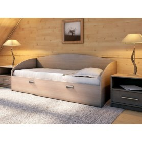 Детская кровать Этюд Софа, 90х190, ясень шимо темный