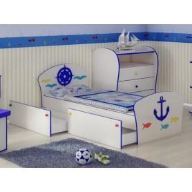 Детская кровать Соната Kids Плюс, 90х190, фасад Якорь