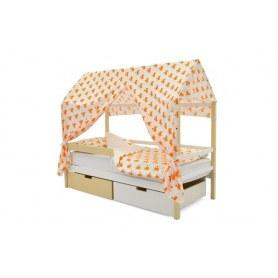 Детская кровать-домик Svogen бежево-белый