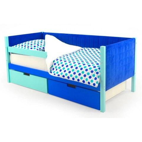Детская кровать-тахта мягкая Skogen мятно-синий