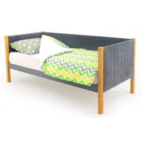 Детская кровать-тахта мягкая Skogen дерево-графит