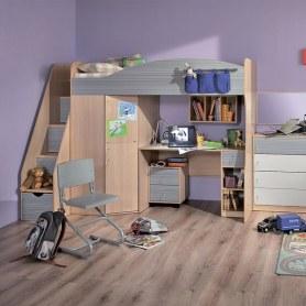 Детская кровать Калейдоскоп 7 + Фасад Радуга серая U2702