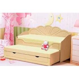 Детская кровать Жемчужина-2, МДФ, бежевый/ваниль глянец