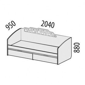 Детская кровать 950х2040х880 55.11 Мегаполис (спальное место 900х2000)