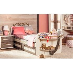 Детская кровать 800 Калипсо 509.160 Сономе эйч темная/Штрихлак