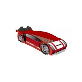 Детская кровать-машина со спинкой ЛД 514.130, Формула, красный