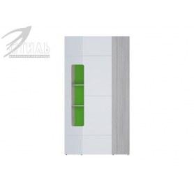 Детский угловой шкаф Палермо-Юниор, зеленые вставки