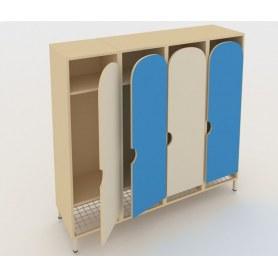 Детский шкаф ШГС4 Беж + Синий
