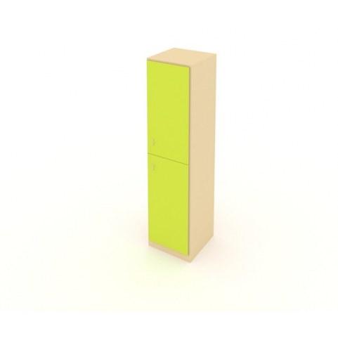 Детский шкаф ШСУ Беж + Лайм