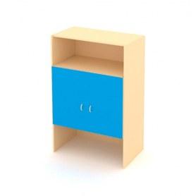 Детский шкаф ДШ-2 ЛДСП Беж+ Синий