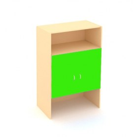 Детский шкаф ДШ-2М МДФ Беж+ зеленая мамба