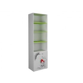 Детский шкаф Симба 600 2Д, цвет Белый/Лайм