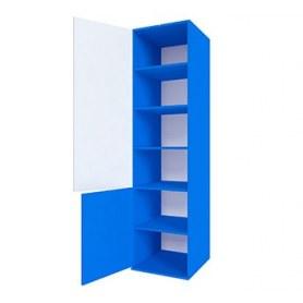 Детский шкаф узкий синий Пожарный ДМ-ШС-2-4