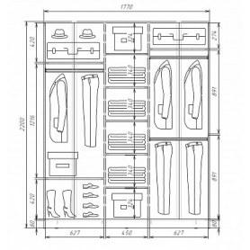 Шкаф-купе 3-х дверный Хит-22-4-20-777-17, 2200х2014х420, фотопечать