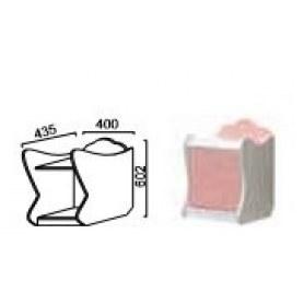 Прикроватная тумба Китти, белый/розовый