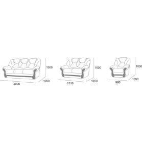 Прямой диван Шарлотта 4 БД Миксотойл