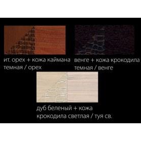 Гостиный гарнитур Гармония-3,цвет Дуб беленый, кожзам, туя светлая