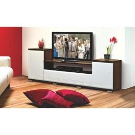 ТВ-тумба 7, цвет Белый, Венге