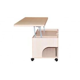 Журнальный стол-трансформер Стэп, Бодега белый