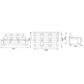 Прямой диван Твист (Боннель)