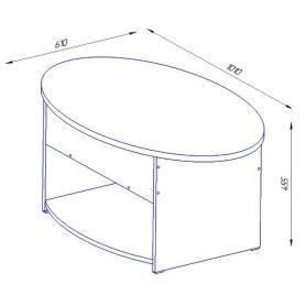 Стол трансформер Дебют-6, шимо темный