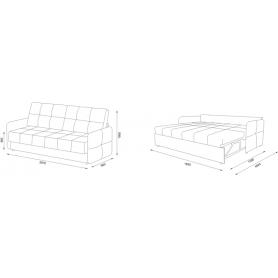 Прямой диван Фиджи 9 БД (Боннель)