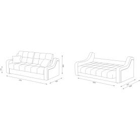 Прямой диван Женева 8 (НПБ)