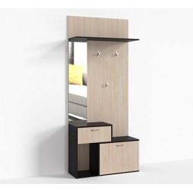 Прихожая Тумба 1 ящик 900 зеркало слева Крокус, цвет 3, ПР-Т-1-6 Дуб девонширский - Дуб Миланский
