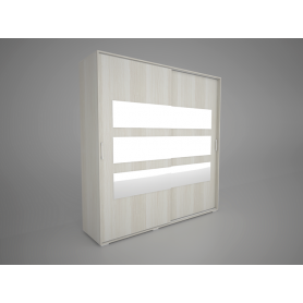 Шкаф-купе Арктур 2.0м с ящиками, плитка 20 (Сосна Карелия)