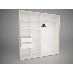 Шкаф-купе Арктур 2.0м с ящиками (Сосна Карелия)