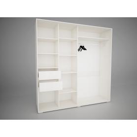 Шкаф-купе Арктур 2.0 Оникс с ящиками (Сосна Карелия)