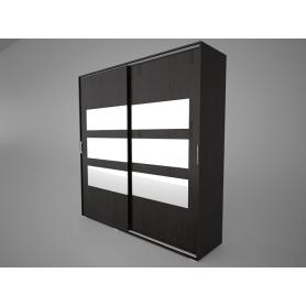 Шкаф-купе Арктур 2.0м с ящиками, плитка 20 (Венге)