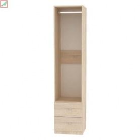 Шкаф Риал (H15) 198х45х45 PUSH to OPEN, Белый