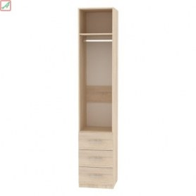 Шкаф Риал (H16) 230х45х45 ручка рейлинг, Белый