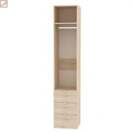 Шкаф Риал (H16) 230х45х45 ручка торцевая TR-2, Венге-ДМ
