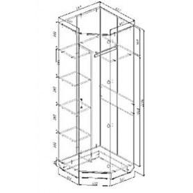 Шкаф угловой Виола, ПВ5, без зеркала, ясень шимо светлый