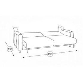 Прямой диван Френсис, Арт. ТД 516
