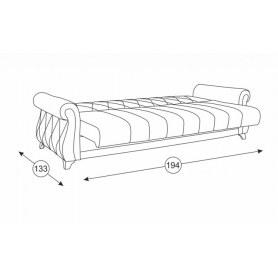 Прямой диван Роуз Арт. ТД 117