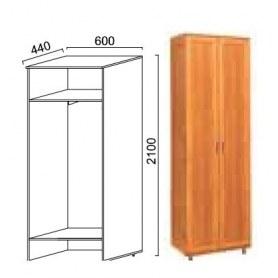 Шкаф двухдверный Александра-1, ПР-2, шимо светлый, МДФ с кожзамом