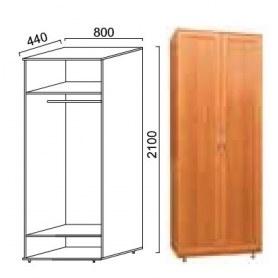Шкаф двухдверный Александра, ПР-3, МДФ шимо светлый